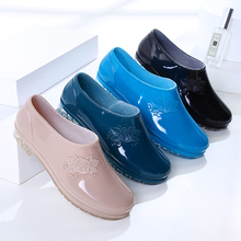 四季女士短筒雨水靴低帮雨鞋女厨房工作浅口防水鞋防滑洗车胶鞋套