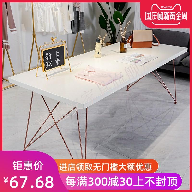 (用2元券)服装店展示桌长方形中间摆放流水台中岛展示架实木展示台简约桌子