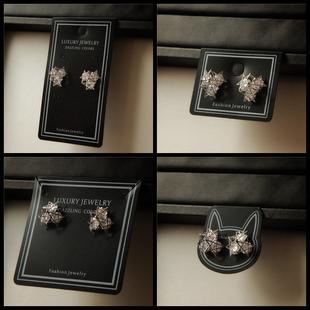 塑料耳環耳飾卡紙可掛包裝卡片 耳釘卡髮夾包裝DIY定做通用飾品卡