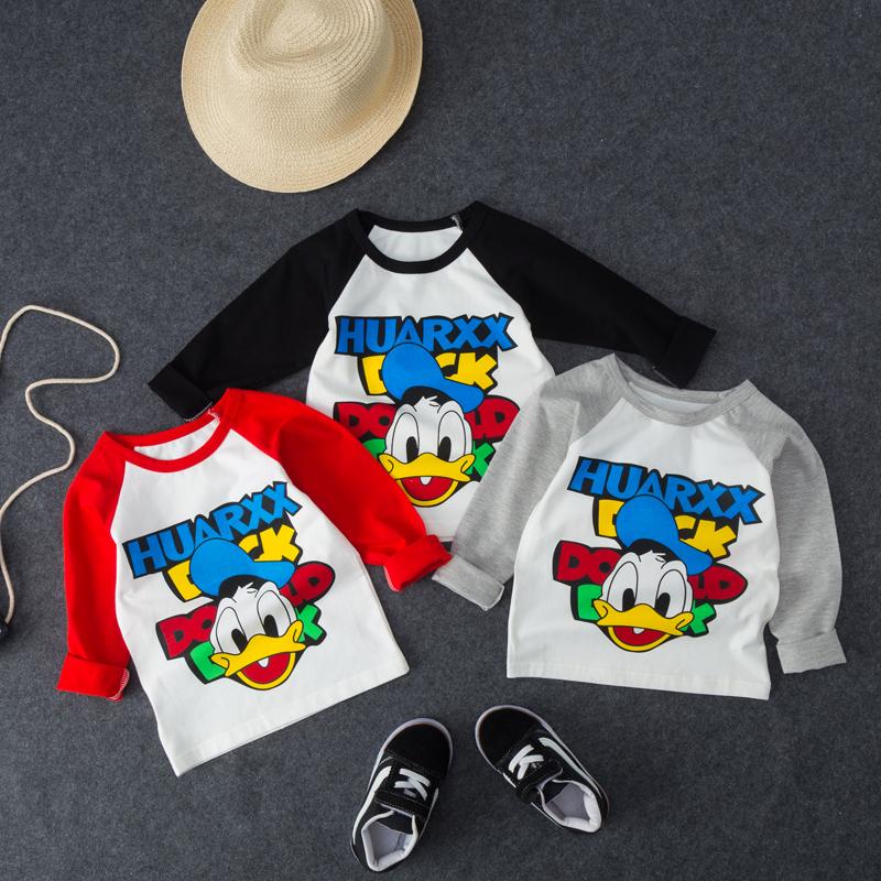 2020春装儿童长袖T恤男童装宝宝上衣女童打底衫纯棉秋装体恤短袖