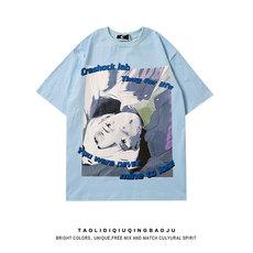 二次元T恤日系动漫2021年新款宽松大码女装胖mm显瘦短袖上衣ins潮