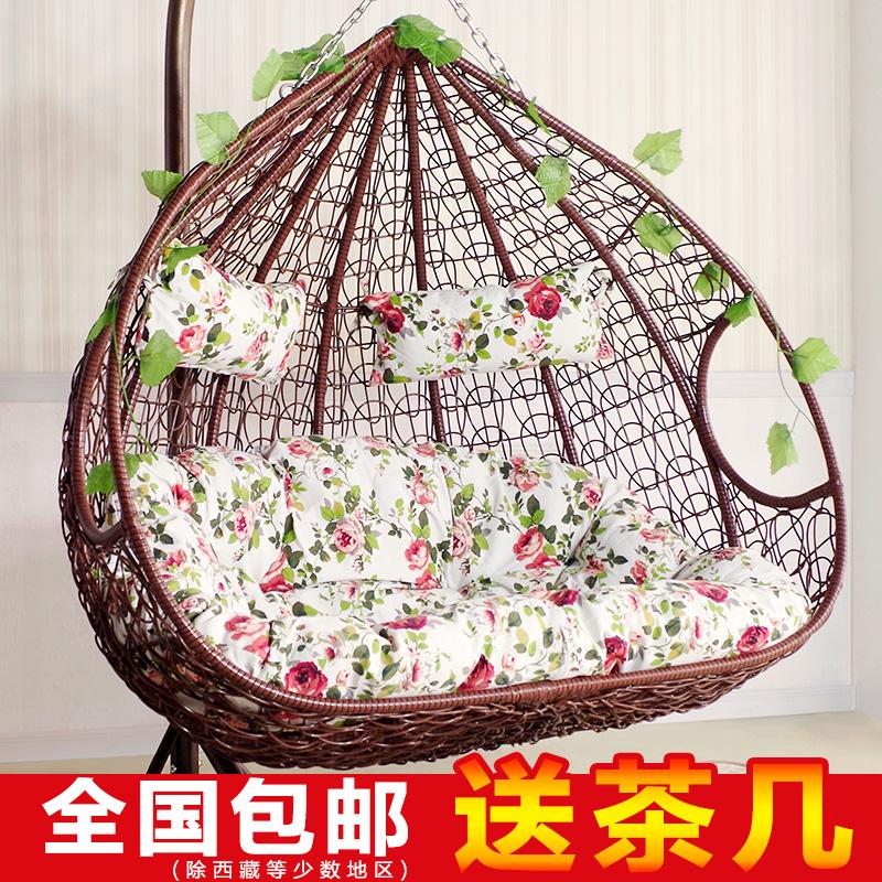 Двойной вешать стул корзина плетеный стул для взрослых гамак комнатный колыбель стул кресло-качалка качели балкон бездельник гнездо хлорофитум стул