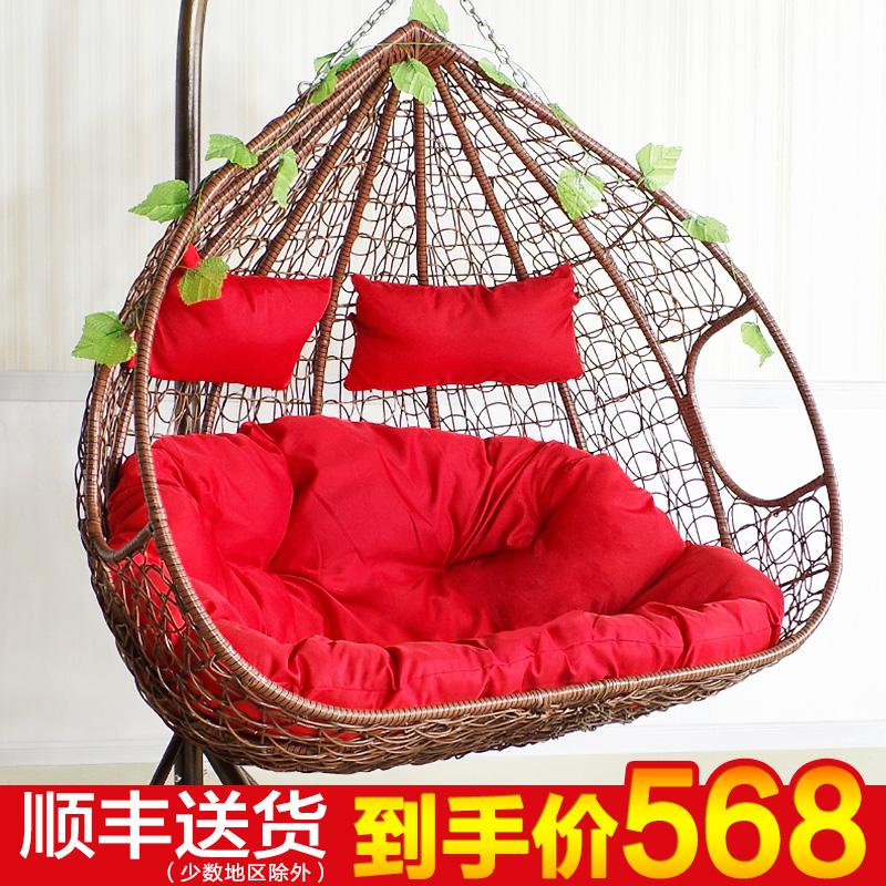Двойной корзина плетеный стул для взрослых комнатный кресло-качалка балкон колыбель стул качели гнездо хлорофитум стул бездельник вешать стул гамак