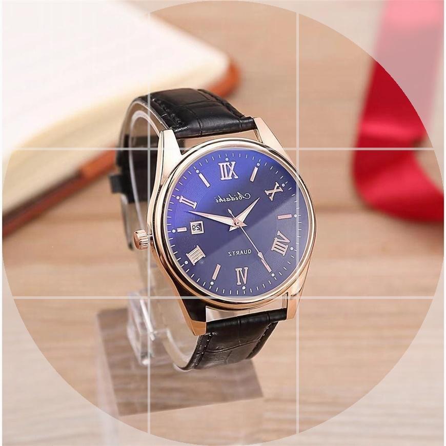 韩版男士手表学生日历潮流皮原宿风带手表石英表百搭商务男生表