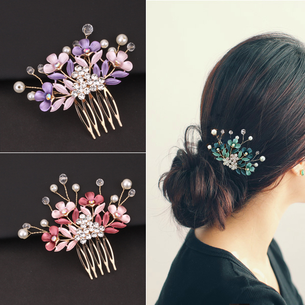 韩式盘发插梳发梳子新娘发卡子头饰盘发器插针时尚伴娘发夹发簪子(非品牌)