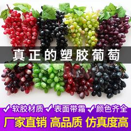 仿真葡萄串仿真水果塑料提子假水果模型道具绿色植物室内装饰挂件图片