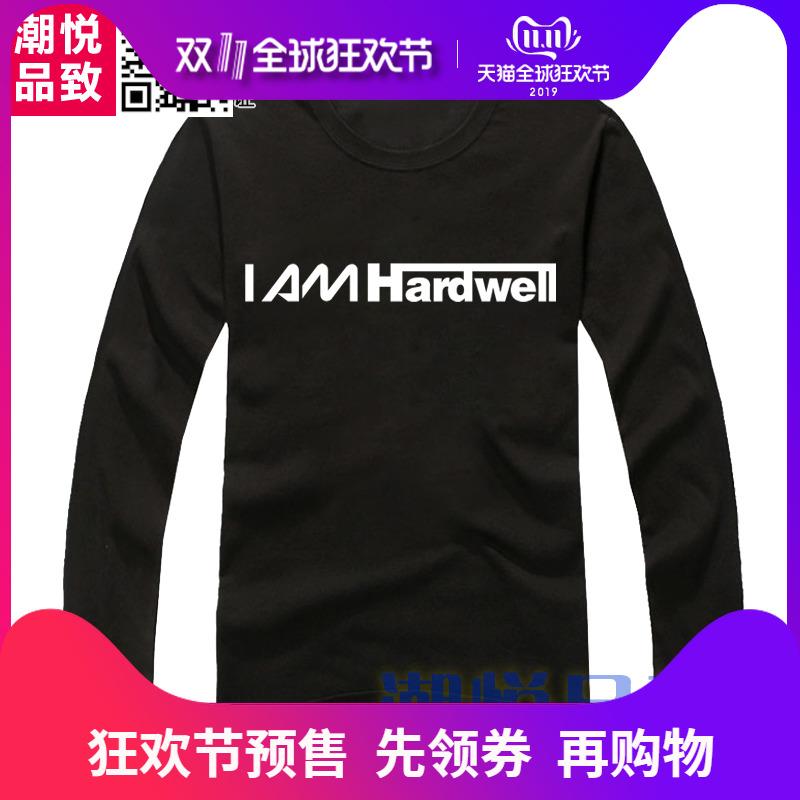 I AM hardwell长袖T恤 百大DJ 电音潮牌 男女衣服摇滚音乐house
