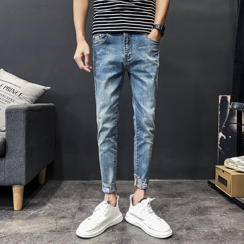8分裤 牛仔裤男休闲长裤子韩版百搭修身九分裤KK208p65