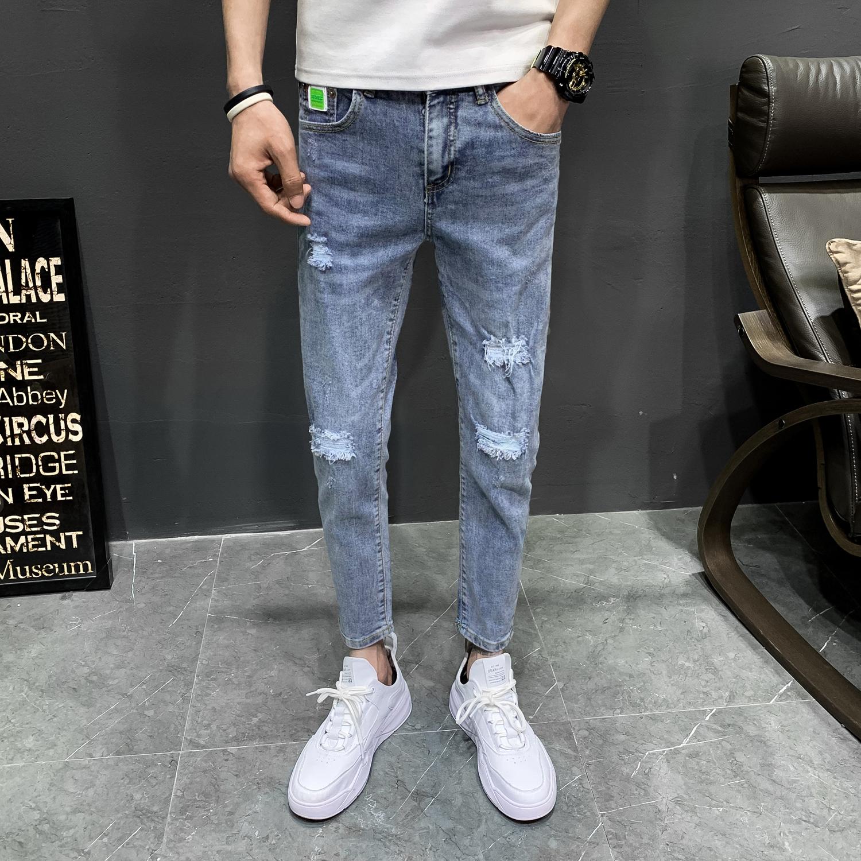春夏款 九分裤板a修身  小脚牛仔裤薄款韩版b417/kk211p65