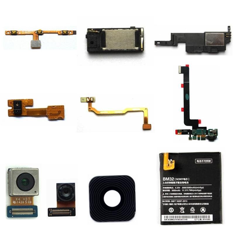 适用小米4开机尾插排线听筒喇叭总成感应灯光排线摄像头镜面电池