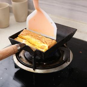 铸铁玉子烧锅 日式鸡蛋卷无涂层方形煎锅 煎蛋不粘平底锅厚蛋烧电