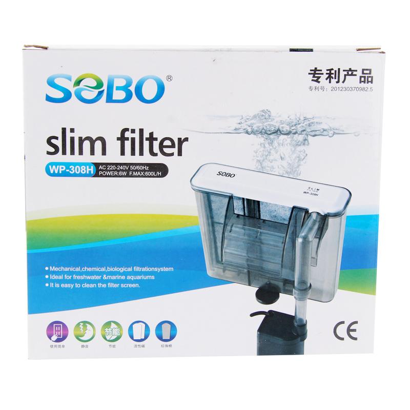 鬆寶魚缸瀑布過濾器增氧泵超靜音水族箱外掛壁掛式外置小型設備