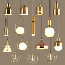 北欧轻奢床头吊灯简约现代三头餐厅吧台服装店玻璃圆球单头小吊灯