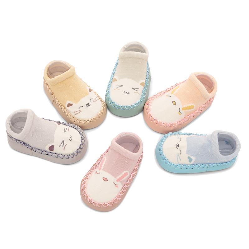 春秋宝宝地板袜婴儿袜子鞋袜0-1岁儿童学步袜防滑袜套软底早教袜
