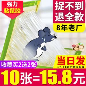 超强力粘鼠板捉粘大老鼠贴沾胶抓灭鼠捕鼠神器超强正品家用一窝端