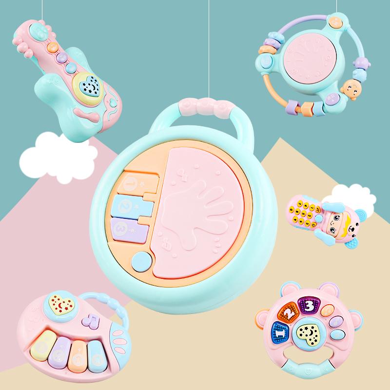 婴儿玩具拍拍鼓手拍鼓宝宝儿童音乐玩具可充电0-6-12个月益智1岁