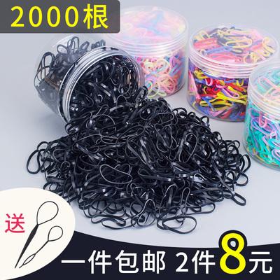 韩版小橡皮筋女扎头发绳发圈韩国皮套头绳可爱森女系一次性黑头饰