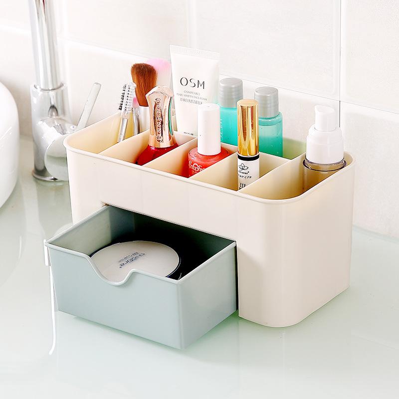 化妆品收纳盒办公室简约桌面整理和遥控器小号塑料口红抽屉置物架