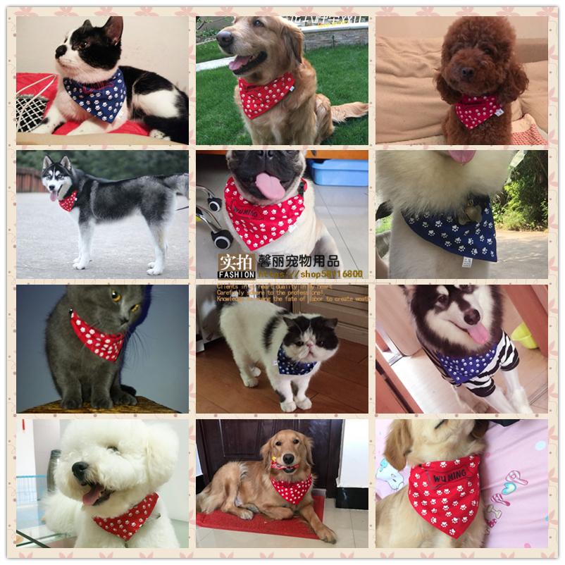 Домашнее животное кот шарф собака нагрудник шарф нагрудник нагрудник шарф шарф тедди золото волосы бодхисаттва руб ура треугольник