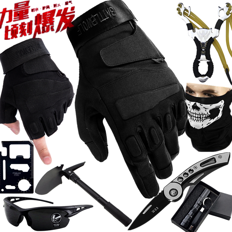 All finger gloves mens summer mountaineering Half Finger fitness cycling motorcycle equipment special forces training tactical gloves