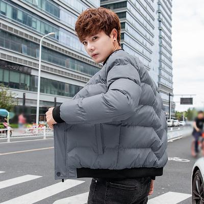 2018冬季新款棒球领棉衣男韩版修身时尚面包服潮 559 P65