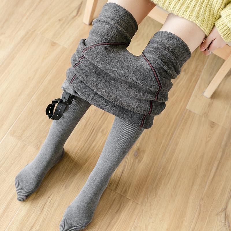 孕妇打底袜丝袜裤袜子托腹打底裤秋冬装冬季外穿时尚棉裤加绒加厚