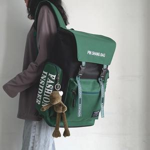 书包女韩版高中大学生工装港风双肩包ins百搭大容量旅行背包男潮