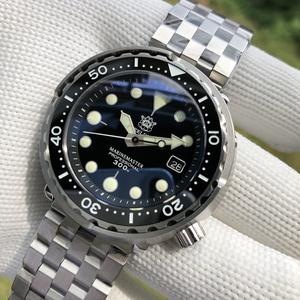 定制SBBN015运动机械罐头潜水手表NH35机芯蓝宝镜片300米防水男表