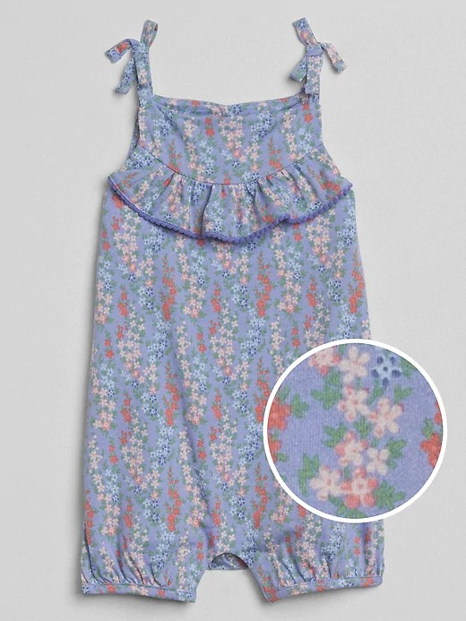 Summer baby sling short climbing womens treasure short floral Jumpsuit printed womens baby Jumpsuit baby clothes