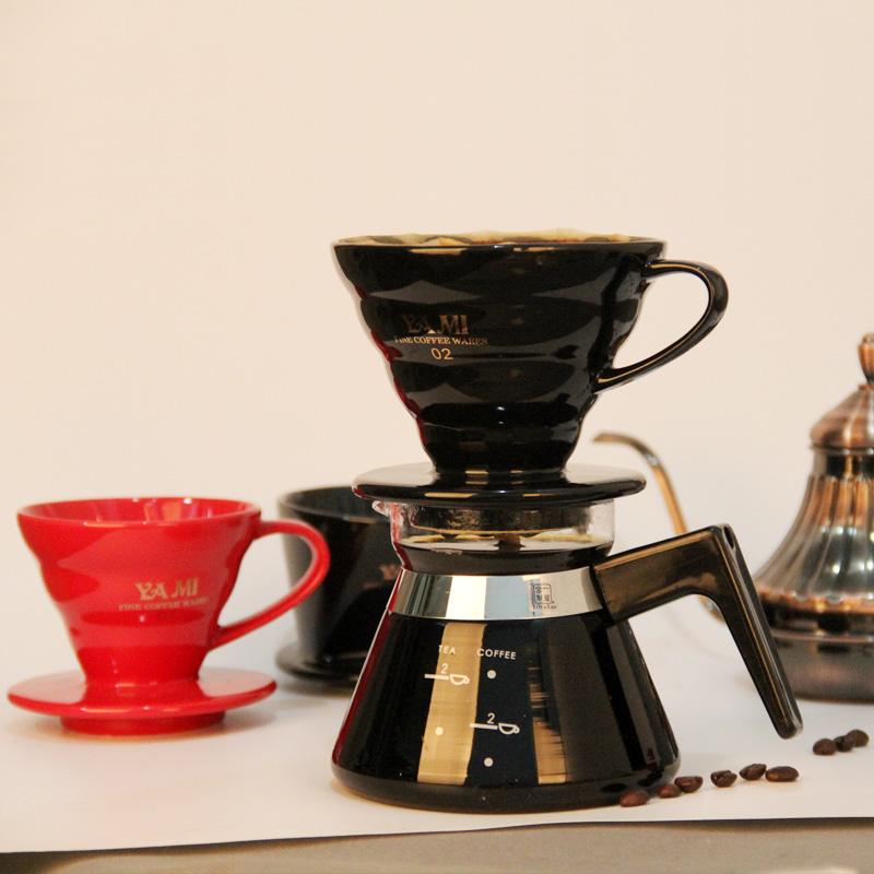 手衝咖啡壺 手衝壺 套裝 陶瓷濾杯 細口壺滴漏式家用