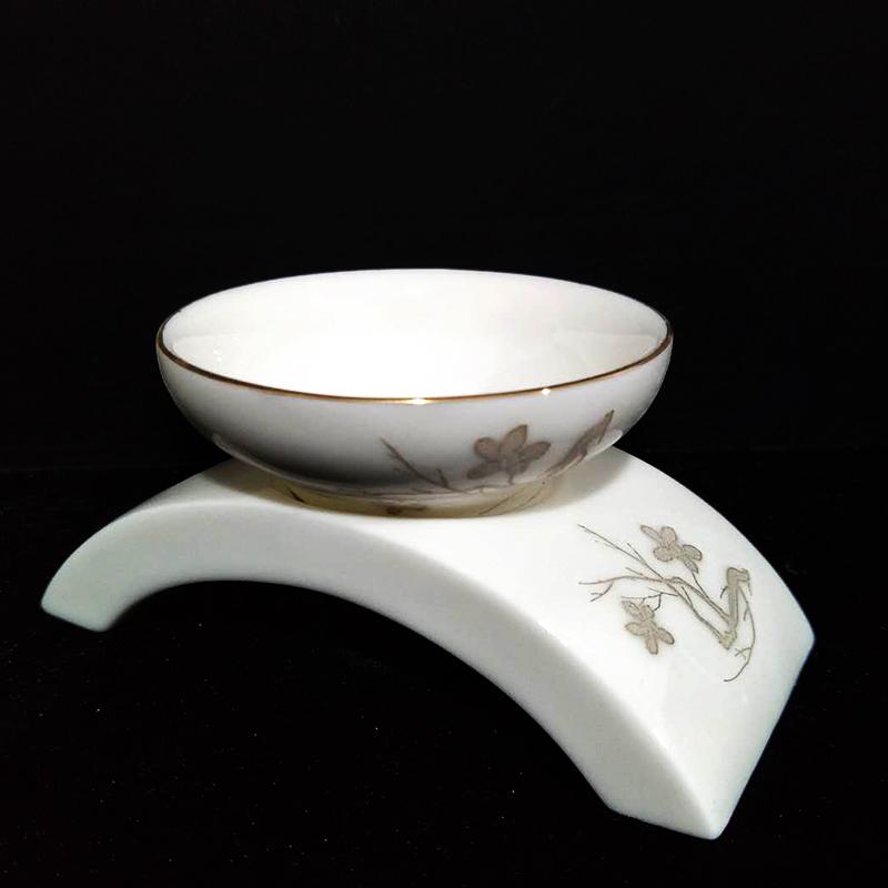 創窯金邊楓葉玉瓷功夫茶具 茶漏組細膩過濾