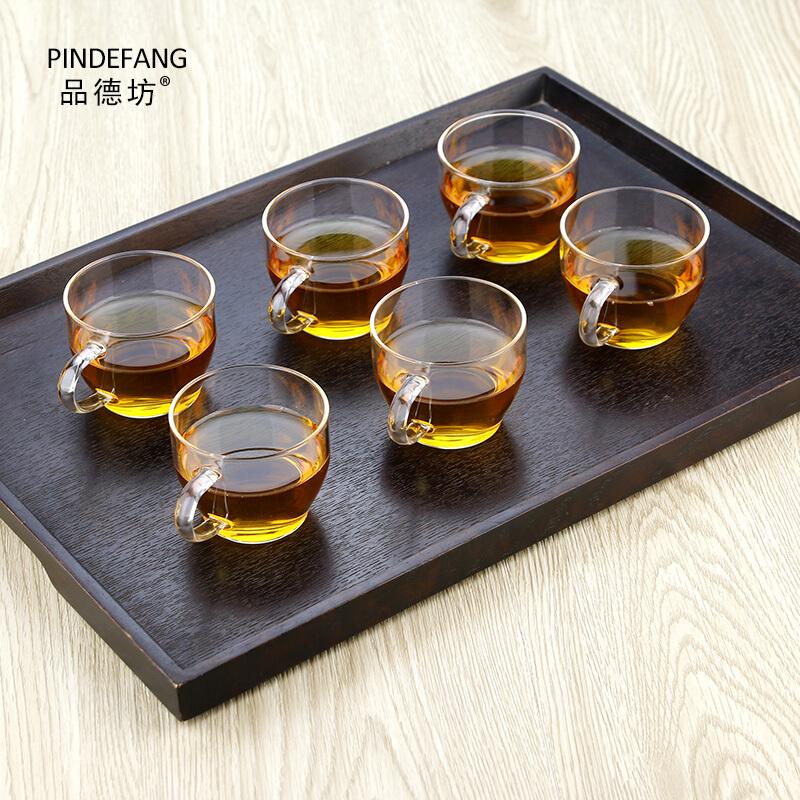 品德坊 J-05品茗杯 带把品杯透明品茗杯子耐热杯功夫茶具