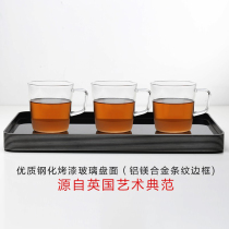 British ortor pallet rectangular household water cup plate tableware hotel Teacup tea set thickened living room plate