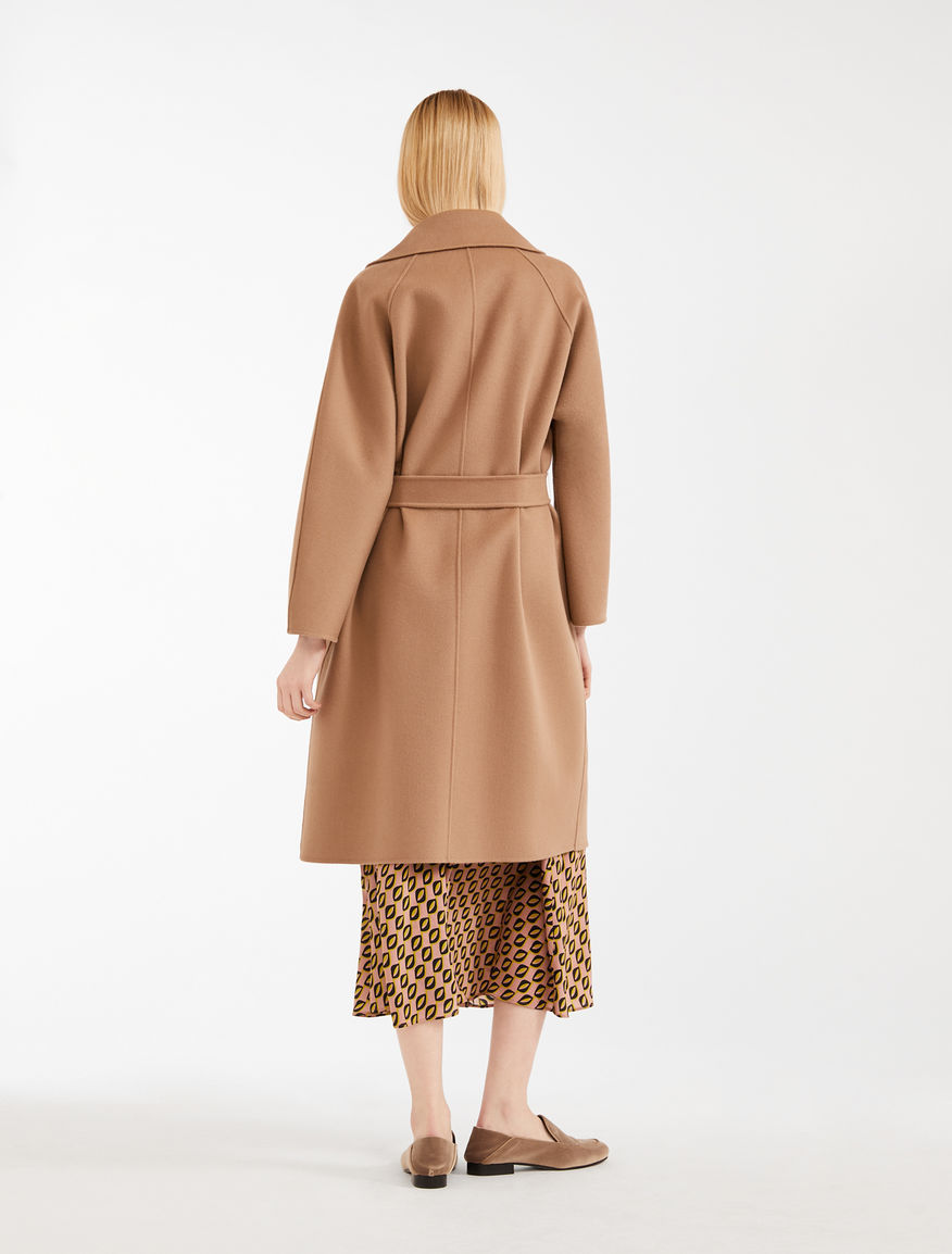 Axzyx beautiful 101max * 2021 autumn and winter new womens cashmere wool blended double-sided tweed coat