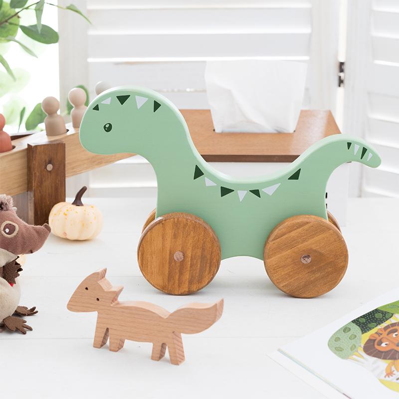 阿楹 木恐龙玩具摆设卧室装饰置物架 北欧童装店男孩儿童房小摆件