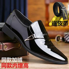 新款男士商务正装内增高真皮皮鞋