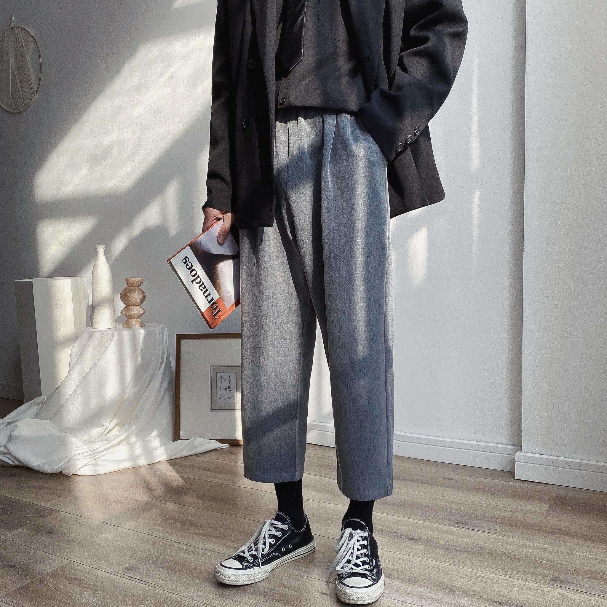 2020春季 男士 九分裤 休闲小西裤A009-H412-P45 60%棉 40涤纶