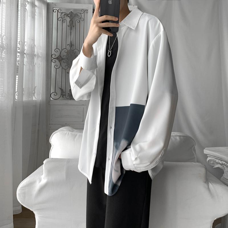 2020春季  阿茶阿古 男士长袖衬衫A009-v144-P55  短句100%涤纶