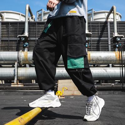 日系1秋款工装裤哈伦裤男港风大码大口袋嘻哈裤子男士潮9329-P65