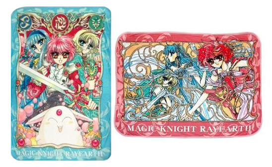 Raven, you have 2 knee blankets around animation of Japanese original clamp Magic Knight