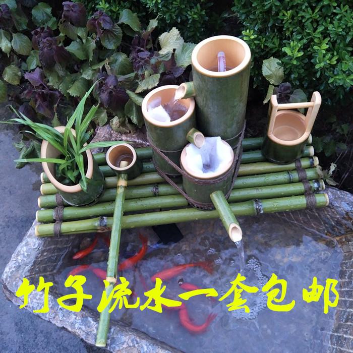 Бамбук проточная вода бамбук трубка проточная вода аквариум камень корыто рыба бассейн декоративный украшение бамбук фильтр ложный гора проточная вода бесплатная доставка