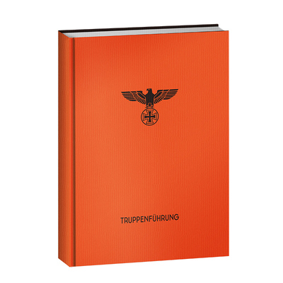 [Refers to cultural and creative] German combat notebook fun World War II comics military history hardcover notebook orange