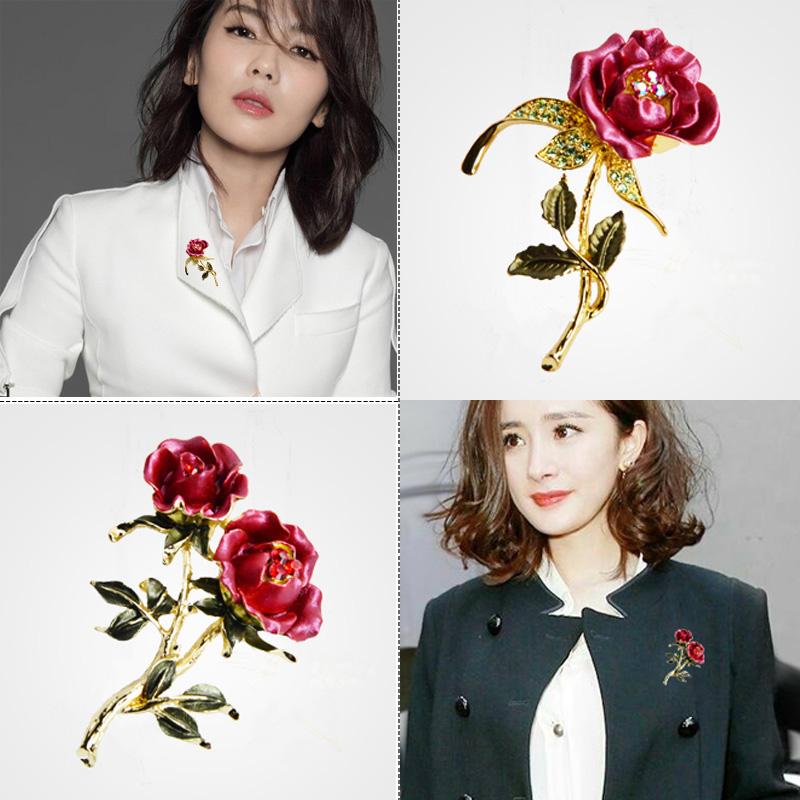 包邮新光饰品玫瑰花朵胸针胸花开衫别针披肩扣配饰韩国气质男女