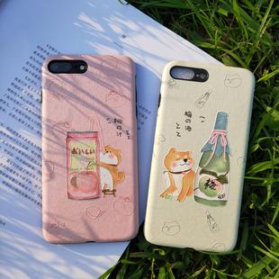原創蘋果xsmax柴犬手機殼12日系iphone7保護套8plus情侶11pro萌xr