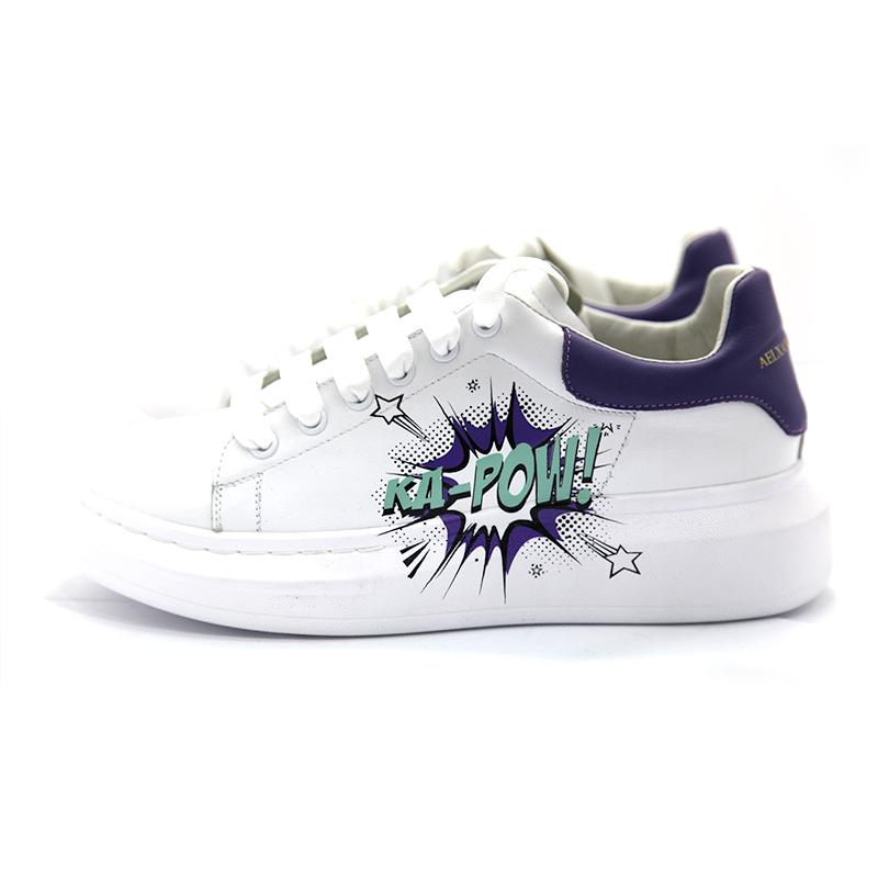【小丫MOMO推荐】AAA新款女鞋彩绘涂鸦潮流板鞋A051221091
