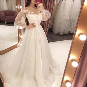 2019欧美夏季新款女装连衣裙ebay速卖通爆款性感蕾丝婚纱礼服