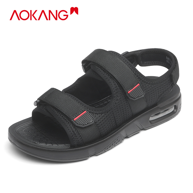Aoang sandals men 2021 new summer breathable men's casual beach shoes men's anti-slip soft bottom sports sandals tide
