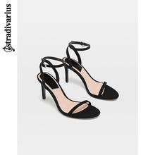 Stradivarius black sandals with high heels new 12902041040 in 2019