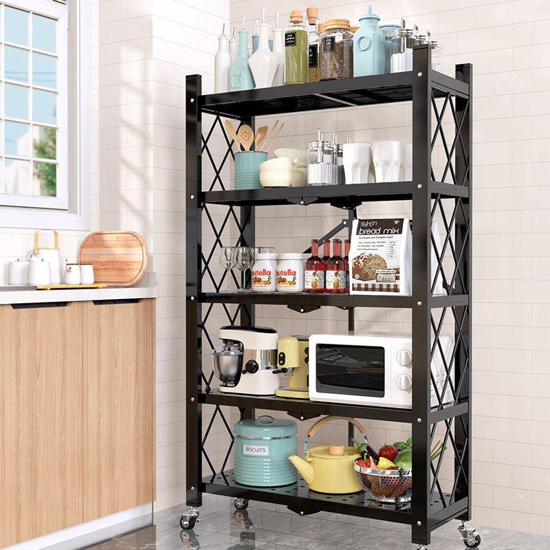 展信达易时代厨房置物架多层收纳架放微波炉卫生间置物架2