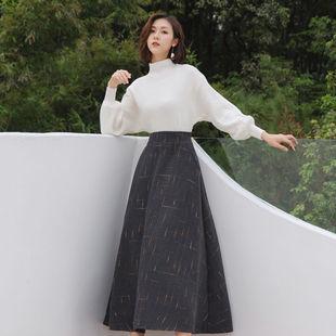 秋冬氣質御姐女神範毛衣加裙子兩件套山本風復古法式桔梗裙套裝潮